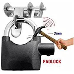 Alarm Padlock Electronic Alarm Lock for Door/Bicycle/Motorbike - Black