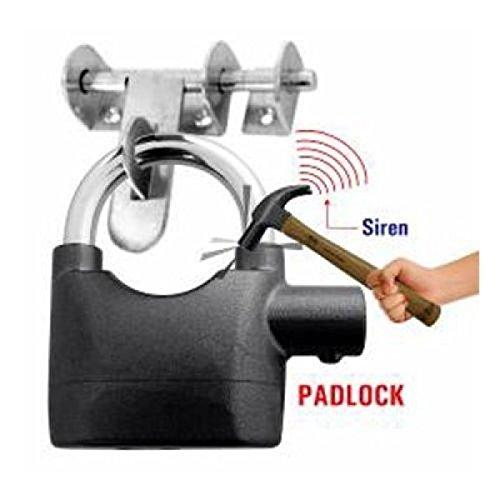 KetZeal Alarm Padlock Anti Theft Electronic Smart Motion Sensor Alarm Lock for Home/Office/Door/Bicycle/Bikes - Black