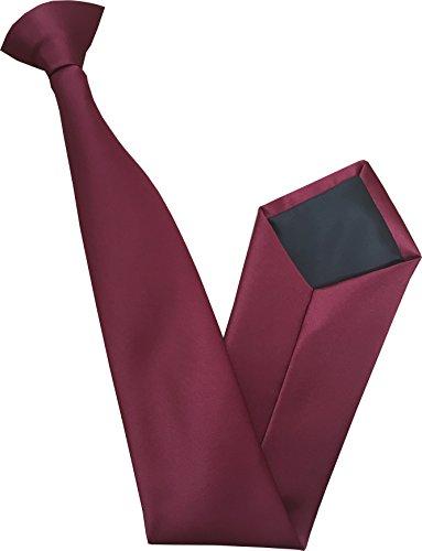 100% Satin Cravate à Clipser - Différentes Couleurs