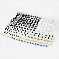 200 unids Auto Car Remaches de plástico retenedor Sujetador Parachoques Fender Clips Botones Tipo de Empuje
