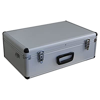 Large Spiderlite Lightweight Semi Flight Case With Tool Insert Dividers Pick Foam In Silver
