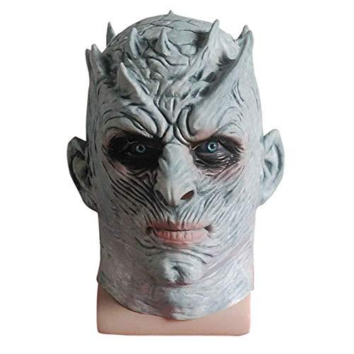 Wddqzf Dekoration Statuen Halloween Neuheit Cosplay Scary Mask Horror Latex Kopf Maske Kostüm Für Erwachsene Party Dekoration Requisiten Gruselig Für (F), F