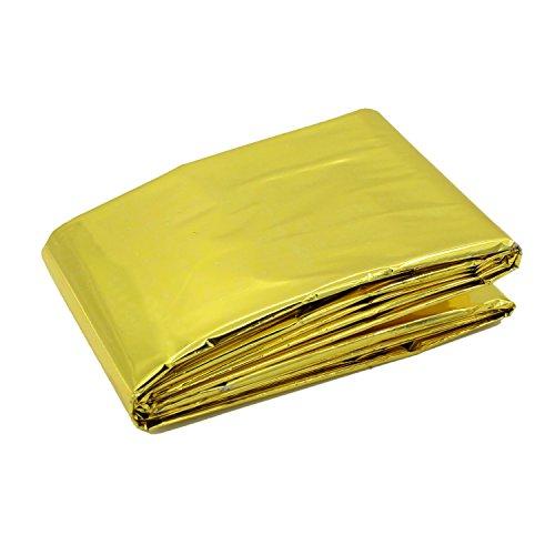 Waterproof Emergency Thermal Blankets Survival (Gold)