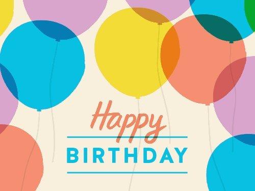 Happy Birthday Balloons - Amazon.co.uk eGift Voucher