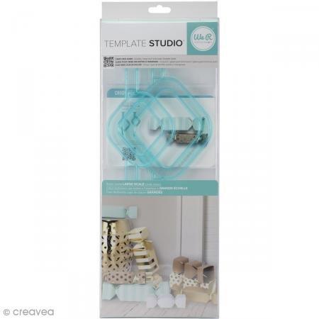 Rayher 59861000 Template We R de Studio de Candy Box Pochoir transparent 4.5 x 1 65 x 0.26 cm