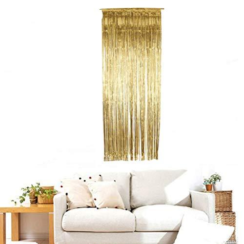 Foil Curtains Tinsel Shimmer Metallic Backdrop Door Curtain Foil Fringe für die Weihnachtsfeier (Metallic Vorhang Dusche)