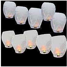 Lanterne Volanti Cinesi Sky Colore Bianco 20