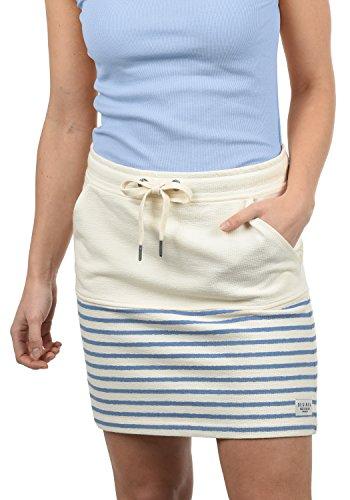 Muster 100% Baumwolle (DESIRES Pippa Damen Kurzer Rock Sweatrock Minirock Mit Streifen-Muster Aus 100% Baumwolle, Größe:XL, Farbe:Sky Blue (1025))