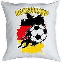 Fu/ßball Fanartikel Deutschland Motiv TOR Kissen/überzug Geschenk Fussballfans, 40x40 cm in schwarz :