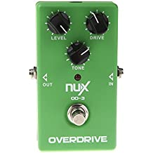 NUX Chitarra Effetto OD-3 Overdrive Elettrica Pedale Ture Bypass Verde