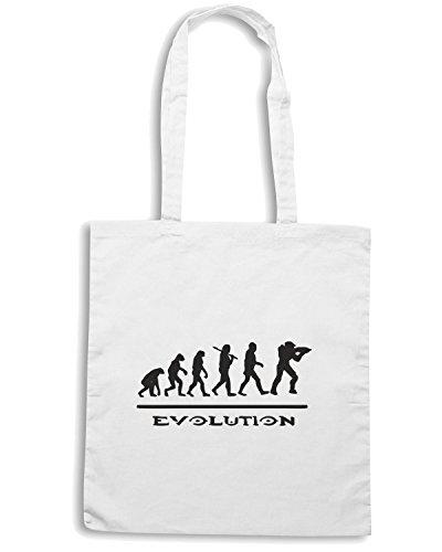 T-Shirtshock - Borsa Shopping TGAM0020 Evolution halo Bianco
