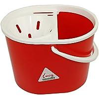 Lucy lbr10cubo de fregar ovalado y escurridor, rojo, 7L