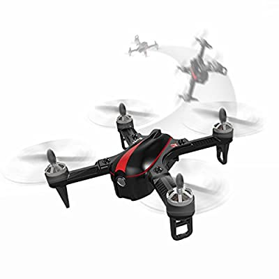 SYMTOP MJX B3 Bugs 3 Mini RC Drone High and Low Speed Shift Low Voltage Alert with 1306 2750KV Brushless Motor - Black