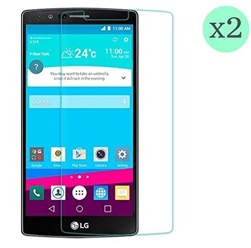 Granada tech (2 Stück) Displayschutz HD-Qualität aus gehärtetem Glas für LG G4 (0,3 mm Stärke) abgerundete Kanten 2.5D, 9H hohe Stoßfestigkeit. Hinterlässt Keine Blasen bei der Anbringung