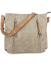 c20cd2677901 Designer Handbags for Women MILANO Classic Italian Styled Fashion Shoulder  Bag Slouch in Beautiful Matt