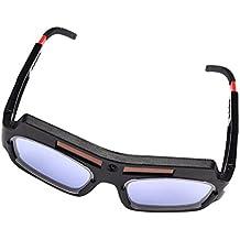 MagiDeal Solar Accionado Auto Oscurecimiento Soldadura Máscara Casco Gafas De Soldadura Gafas