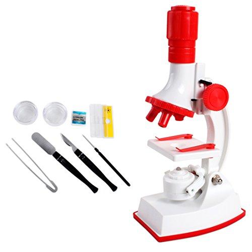 YAHAMA 1200x Mikroskop für Kinder 10Stk.Mikroskop Set Pädagogisches Spielzeug ab 6 Jahren