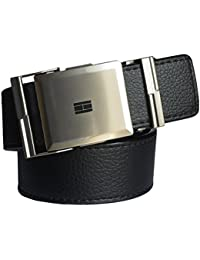 Sunshopping men's black non leather belt with auto lock buckle(Q12-WR)