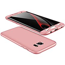 vanki Custodia Samsung Galaxy S7 Edge, 360 Gradi della Copertura Completa 3 in 1 Hard Stilosa Pc Case Cover Protettiva Bumper Posteriore per Galaxy S7 Edge (Samsung Galaxy S7 Edge, Rosa)