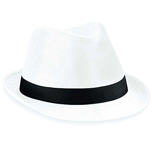Beechfield Chapeau en feutre Blanc blanc/noir L/XL