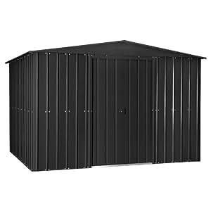 globel industries metall garten ger tehaus gartenhaus 10x8 anthrazit 295x237x203 cm bxtxh. Black Bedroom Furniture Sets. Home Design Ideas