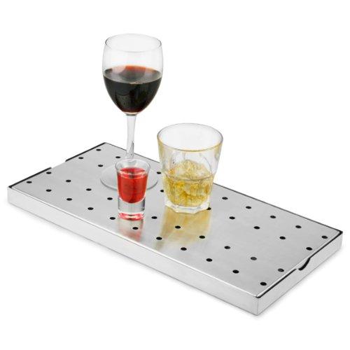 Edelstahl Bar Abtropfschale 20 cm x 40 cm/Bar @drinkstuff Abtropfschale, Bar Abtropfschale, Bier Abtropfschale