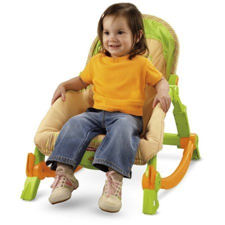 Fisher-Price - Newborn to Toddler Portable Rocker Flip Out Kickstands To Go From Rocker To Stationary Seat  available at amazon for Rs.15789