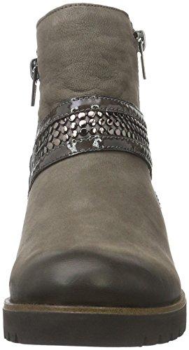 Remonte Damen D0181 Biker Boots Grau (bisam/stromboli/stromboli / 25)
