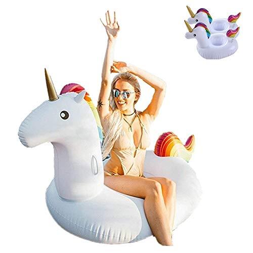 Flotador Unicornio, Inflable Gigante Unicornio Adecuado Para la Familia Usted Con Pileta Disfrute de sus Agradables Vacaciones con su Familia y sus Hijos