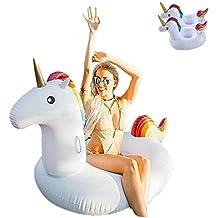 Lady of Luck Flotador Unicornio, Inflable Gigante Unicornio Adecuado para la Familia Usted con Pileta