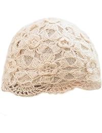 Gorros de punto Sombrero de Invierno Sombrero de Dama Flor de Encaje Boina  Invierno Inglaterra Sombrero f34e2404bb7