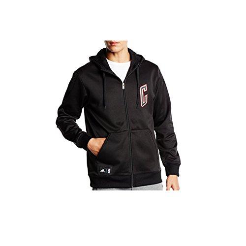 Adidas Herren s92392Hooded Jacket Fleece XXL Schwarz / Weiß / Rot (Adidas Fleece Hoodie)