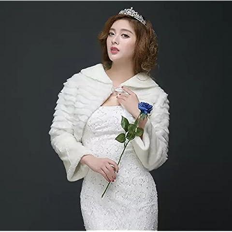 Sección otoño e invierno de la boda del hombro Novia Accesorios Vestido caliente engrosamiento Zanja Zanja La Palabra felpa Mantón