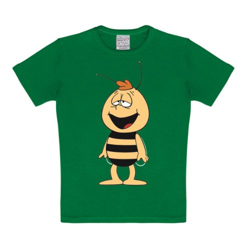 Logoshirt Biene Maja - Willi T-Shirt Kinder Jungen - grün - Lizenziertes Originaldesign, Größe 122/134, 7-9 ()