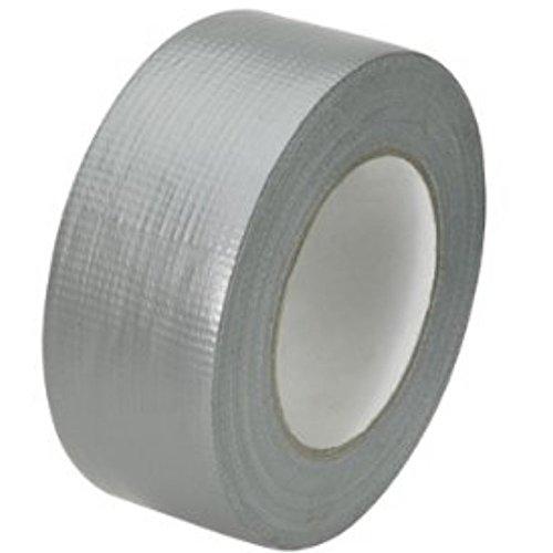 Gewebeband, Allzweckband, Steinband, 1 Rolle 48 mm x 50 m Silber