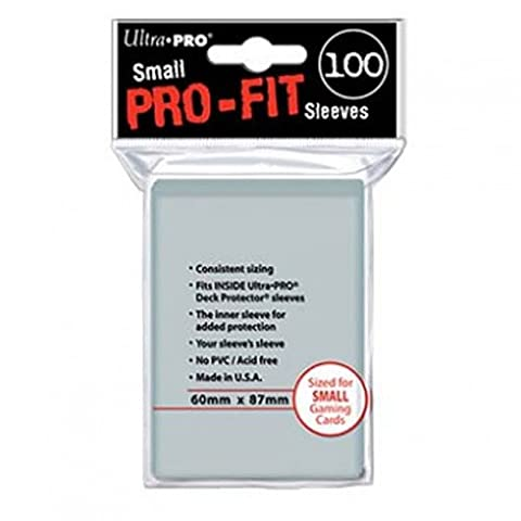 Ultra Pro 82713 - Small Sleeves - Pro-Fit Card, 100