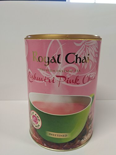 Royal Chai Kashmiri Pink Chai Tea Sweetened Tub Pack of 1 (400g)