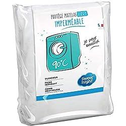 Sweetnight - Protège matelas 90x190/200 cm | Alèse Imperméable et Micro Respirante | Souple et Silencieux | Lavable à 90°C