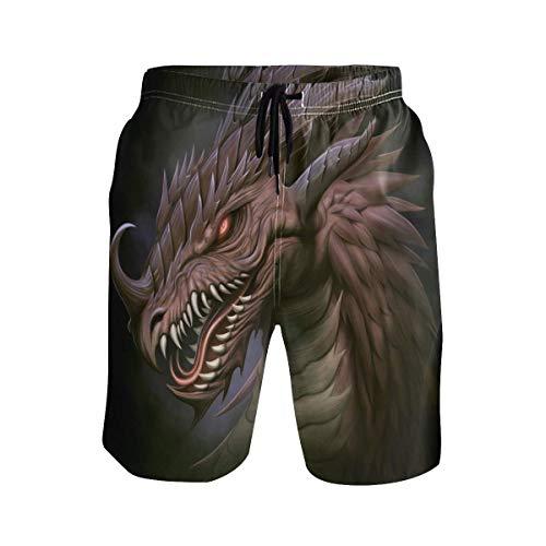 Animal Dragon Badehose für Herren Boy Quick Dry Beach Shorts mit Tunnelzug