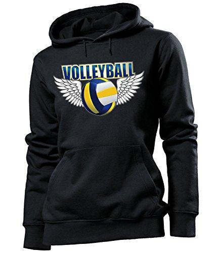 Volleyball 675 Fanhoodie Damen Hoodie Schwarz S