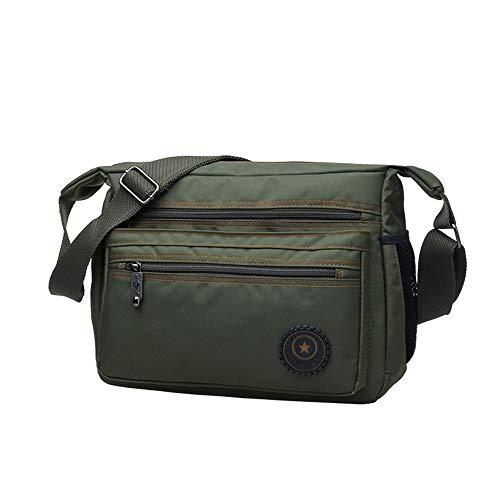 Heißer 2019 männer Messenger Bags hochwertigen männer Reisetasche männlichen umhängetasche klassisches Design männer Nylon Taschen wasserdicht (Color : Army Green) - Grüne Klassische Aktentasche