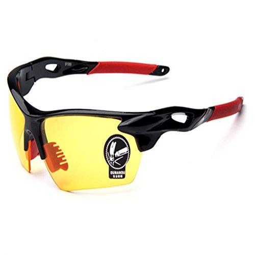 O-C Unisex Outdoor Sport Occhiali da sole 75mm giallo Yellow