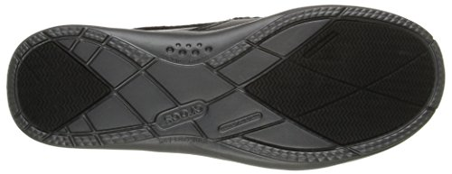 Crocs Walu Luxe en cuir pour homme Slip-On Loafer Black/Graphite