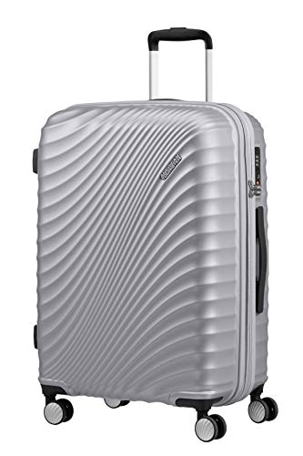 American Tourister Jetglam - Spinner M Erweiterbar Koffer, 67 cm, 77,5 L, silber (Metallic Silver)