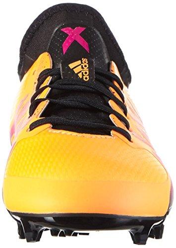 adidas Unisex-Kinder X 15.1 Fg/Ag Fußballschuhe Orange (Solar Gold/Core Black/Shock Pink)
