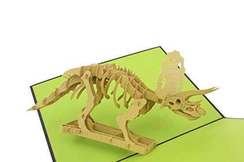 PopLife Greeting Cards Triceratopsdinosaurier Pop-up-Geburtstag/Grußkarte (Buch Zeichen Kostüm Für Jungen)
