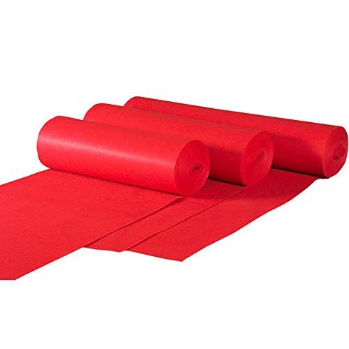 JIAJUAN Hochzeit Gang Läufer Rot Teppiche Wegwerf Dauerhaft Fußboden Teppich zum Hochzeiten Feierliche Zeremonie Gelegenheiten (Farbe : Red-5mm, größe : 1.2x30m) - Gang Rot Hochzeit Läufer