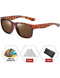 ATNKE Sport rétro polarisée lunettes de soleil pour hommes femmes UV400  Protection avec lentille réfléchissante élégant ab14d6187051