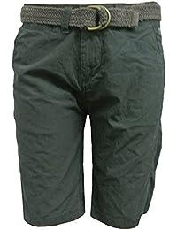 Petrol Industries - Shorts garçons Bermudes avec ceinture, anthracite - B-ES17-SHO550a