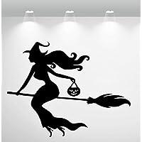 Aufkleber - Wandtattoo ***Hexe/Witch - Nr.8*** (Größen und Farbauswahl)
